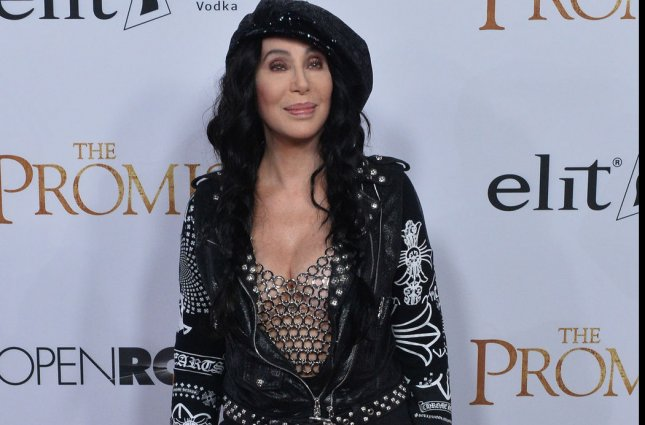 Cher attends the premiere of the motion picture historical drama The Promise in Los Angeles on April 12. The singer and actress received the Billboard Icon Award in Las Vegas Sunday. File Photo by Jim Ruymen/UPI