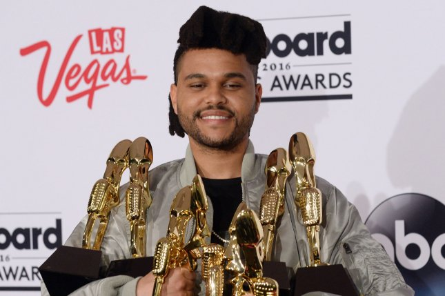 The Weeknd attends the Billboard Music Awards on May 22, 2016. File Photo by Jim Ruymen/UPI