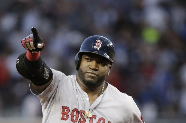 Former Boston Red Sox designated hitter David Ortiz was shot in the Dominican Republic on Sunday. File Photo by John Angelillo/UPI