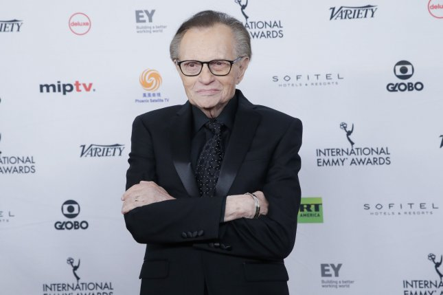 Larry King had been receiving treatment for COVID-19 at a Los Angeles hospital before his death. File Photo by John Angelillo/UPI