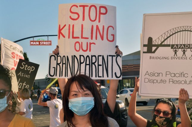 Violent attacks against Chinese and other Asian Americans have skyrocketed in the United States in the wake of the coronavirus pandemic. File Photo by Jim Ruymen/UPI