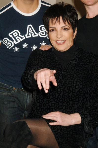 Actress Liza Minnelli meets the media after rehearsal for her first Broadway musical in 10 years Liza's at the Palace in New York on October 24, 2008. (UPI Photo/Ezio Petersen)
