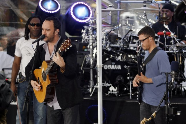 The Dave Matthews Band will kick off its summer tour in Austin, Texas on May 13. File photo by John Angelillo/UPI
