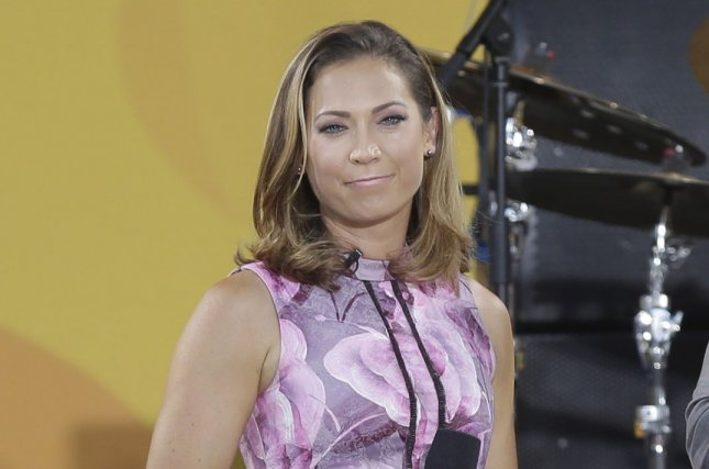 Ginger Zee introduced son Miles in a video call Tuesday to Good Morning America. File Photo by John Angelillo/UPI