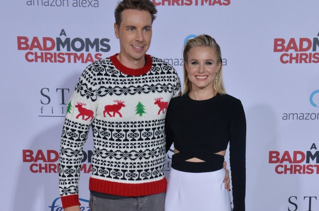 Dax Shepard shared a rare photo of his wife Kristen Bell with their daughters this weekend. File Photo by Jim Ruymen/UPI