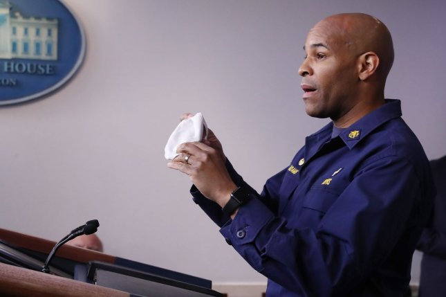 U.S. Surgeon General Jerome Adams encouraged Americans to wear face coverings on Sunday as a Tulsa, Okla., health official expressed concern about coronavirus spread at President Donald Trump's upcoming rally in the city. File Photo by Michael Reynolds/UPI