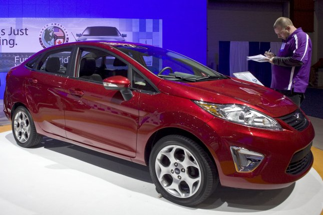 The Ford Fiesta is showcased at the Washington Auto Show in Washington on January 26, 2010. UPI/Madeline Marshall