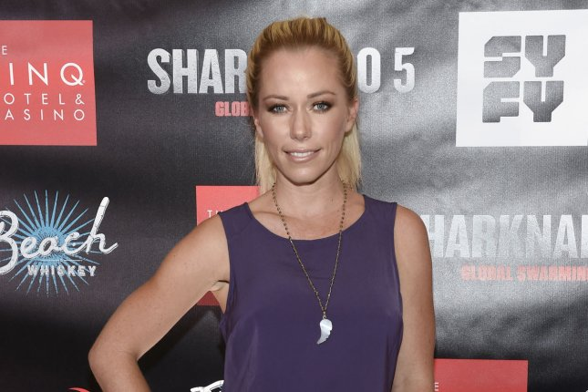 Kendra Wilkinson attends the premiere of Sharknado 5: Global Swarming at The LINQ Hotel & Casino in Las Vegas on August 6. Wilkinson and other celebrities, including Pamela Anderson and Jenny McCarthy, mourned the death of Hugh Hefner. File Photo by David Becker/UPI