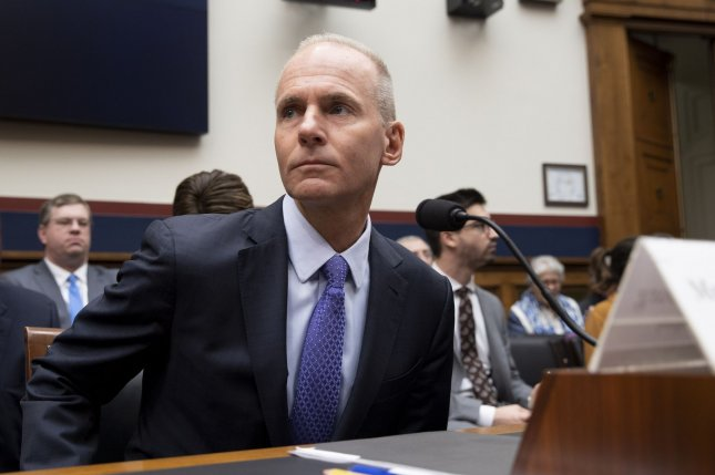 Boeing CEO Dennis Muilenburg prepares to testify to Congress about safety issues with the 737 Max on Wednesday. Photo by Tasos Katopodis/UPI