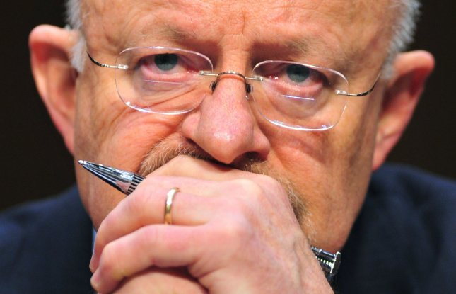Director of National Intelligence James Clapper testifies before a Senate (Select) Intelligence Committee hearing on worldwide threats in Washington on February 16, 2011. UPI/Kevin Dietsch..