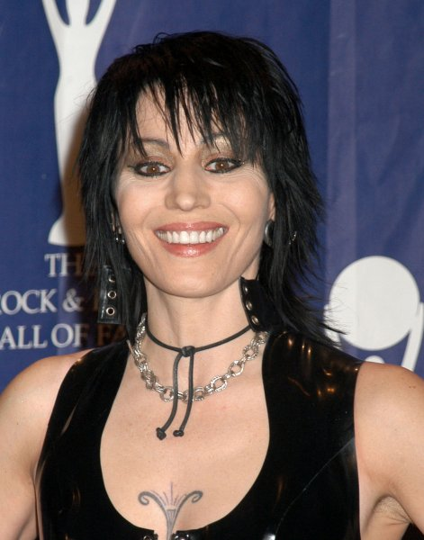 Joan Jett makes an appearance in the press room at the 23rd Annual Rock and Roll Hall of Fame at the Waldorf Astoria in New York on March 10, 2008. (UPI Photo/Joy Scheller)