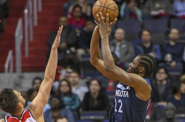 Minnesota Timberwolves forward Andrew Wiggins (22) scored 23 points against the New Orleans Pelicans on Wednesday in Minneapolis. Photo by Mark Goldman/UPI