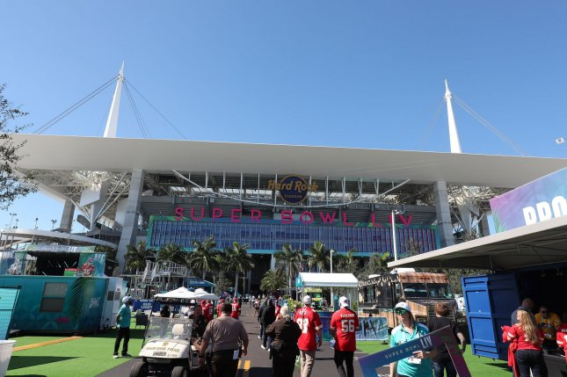 Activities begin before Super Bowl LIV on Sunday at Hard Rock Stadium in Miami Gardens, Fla. Photo by Tasos Katopodis/UPI