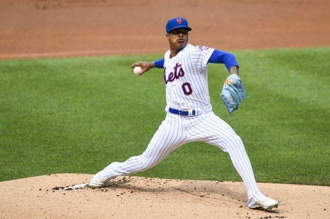 New York Mets starting pitcher Marcus Stroman posted a 4-2 record and 3.77 ERA in 11 starts for the Mets last season. File Photo by Corey Sipkin/UPI