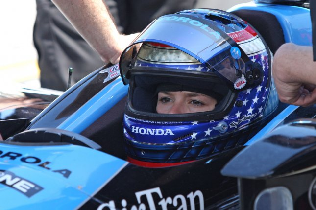 On April 20, 2008, Danica Patrick won the Indy Japan 300 auto race, becoming the first woman to win an IndyCar event. File Photo by Malcolm Hope/UPI
