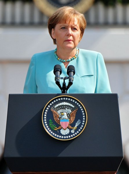 German Chancellor Angela Merkel is one of the European leaders who agreed to a $155 billion package to ease the Greek debt crisis. UPI/Kevin Dietsch
