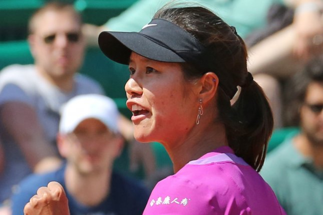 Li Na and husband Jiang Shan welcomed their first child Wednesday. File Photo by David Silpa/UPI