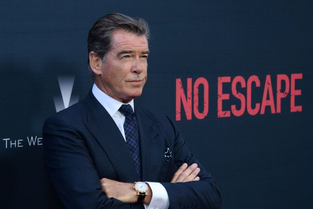 Pierce Brosnan at the Los Angeles premiere of 'No Escape' on August 17. The actor voiced his support for a black James Bond in the August issue of Details magazine. File photo by Jim Ruymen/UPI