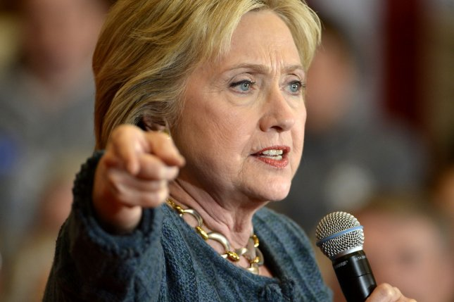 Former Secretary of State and Senator Hillary Clinton, said she loves the idea of appointing President Barack Obama to the Supreme Court bench. Photo by Mike Theiler/UPI