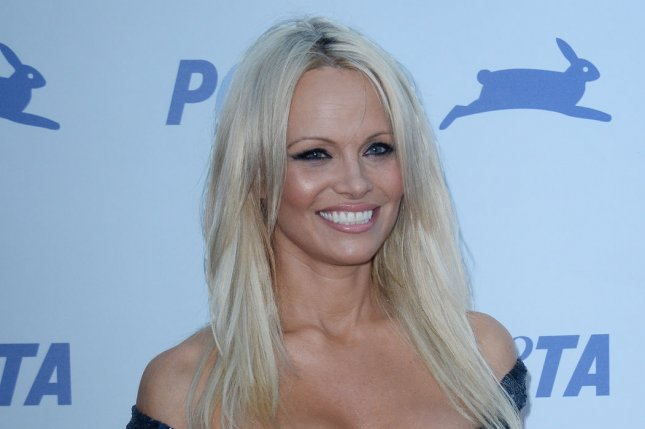 Pamela Anderson at the PETA 35th anniversary party on September 30, 2015. The actress played C.J. Parker on the original Baywatch series. File Photo by Jim Ruymen/UPI