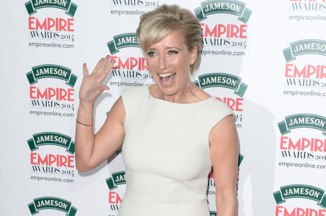 Emma Thompson attends the Empire Awards on March 30, 2014. File Photo by Rune Hellestad/UPI