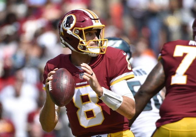Kirk Cousins and the Washington Redskins face the Seattle Seahawks this weekend. Photo by David Tulis/UPI