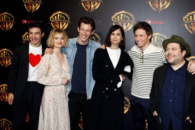 From left to right, the cast of Fantastic Beasts: The Crimes of Grindelwald: Ezra Miller, Alison Sudol, Callum Turner, Katherine Waterston, Eddie Redmayne and Dan Fogler. The third film in the series will arrive in November 2021. File Photo by James Atoa/UPI