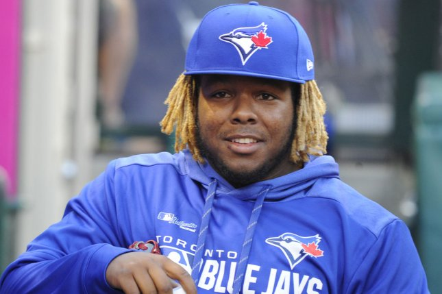 Toronto Blue Jays phenom Vladimir Guerrero Jr. will be competing for a $1 million prize at the 2019 MLB Home Run Derby Monday in Cleveland. File Photo by Lori Shepler/UPI