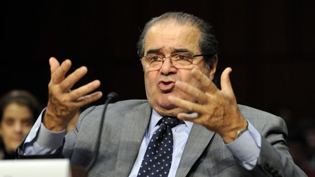 Supreme Court Justice Antonin Scalia insisted that the new law reducing the sentences for crack possession should not affect those sentenced under the old law. UPI/Roger L. Wollenberg
