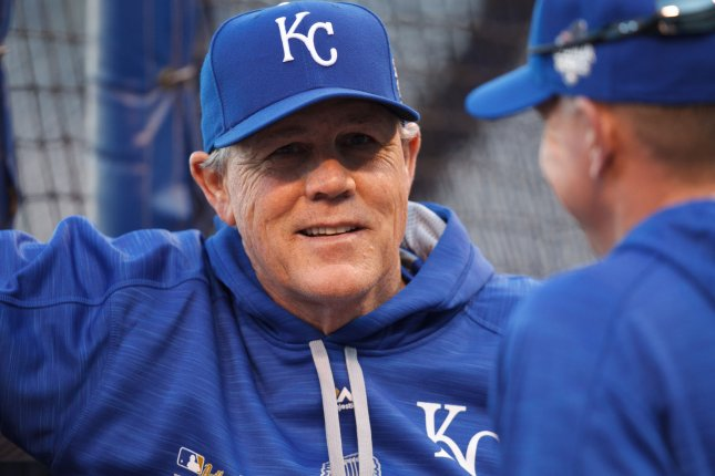 Manager Ned Yost and his Kansas City Royals face the Chicago White Sox on Sunday. Photo by Jeff Moffett/UPI