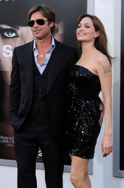 Angelina Jolie, a cast member in the motion picture thriller Salt, attends the premiere of the film with her longtime companion, actor Brad Pitt at Grauman's Chinese Theatre in the Hollywood section of Los Angeles on July 19, 2010. UPI/Jim Ruymen