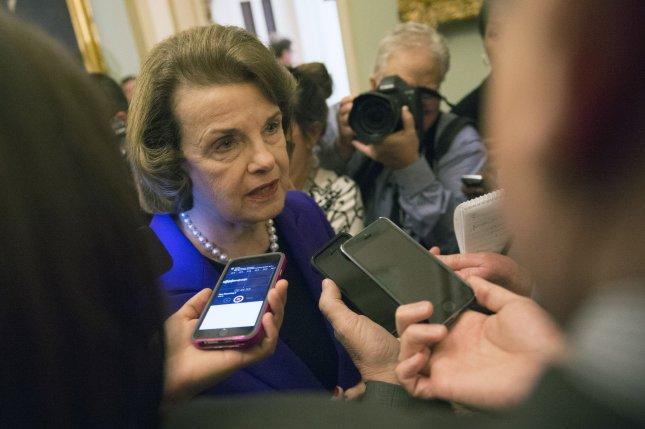 Sen. Dianne Feinstein, D-Calif, speaks to reporters after delivering a speech on the Senate Intelligence Committee's report on the CIA's interrogation techniques, in the U.S. Capitol Building on December 9, 2014 UPI/Kevin Dietsch