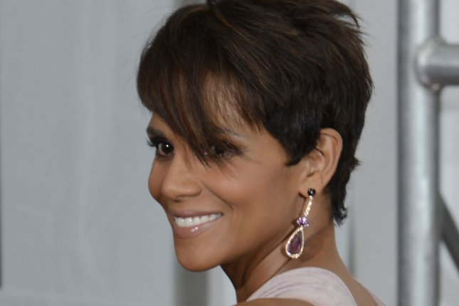 Actress Halle Berry appears backstage at the Primetime Emmy Awards at the Nokia Theatre in Los Angeles on Aug. 25, 2014. Photo by Phil McCarten/UPI