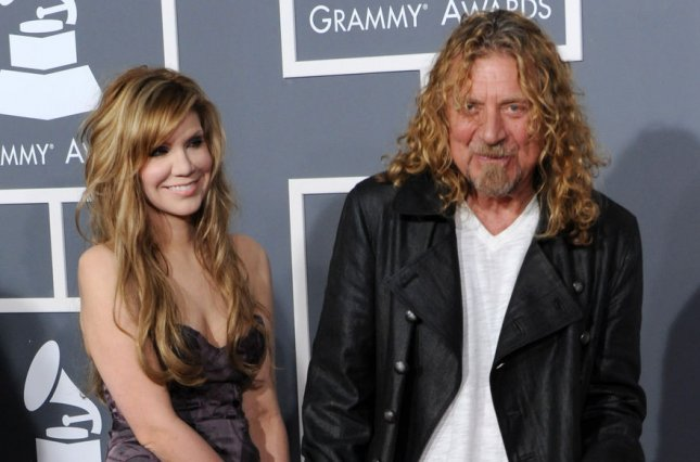 Robert Plant (R) and Alison Krauss (L) arrive for the 51st annual Grammy Awards on February 8, 2009. Plant has announced a new North American tour. File Photo by Jim Ruymen/UPI