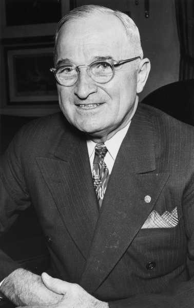 U.S. President Harry S. Truman, pictured in 1949, delivered the first televised White House address October 5, 1947. UPI File Photo