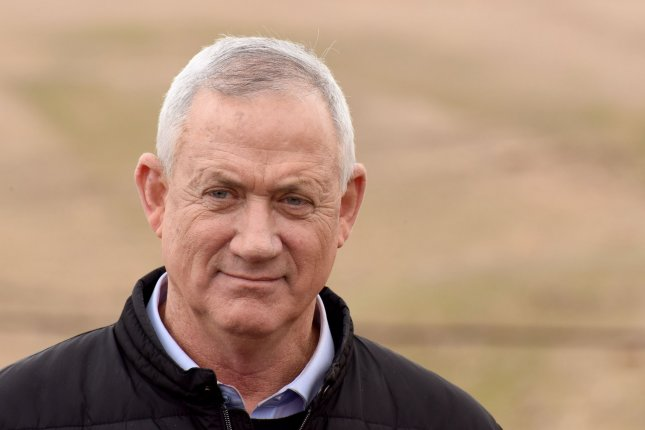 Benny Gantz, chairman of Israel's Blue and White party, said Sunday he will form a government with neither Prime Minister Benjamin Netanyahu nor Arab parties after the upcoming elections. Photo by Debbie Hill/UPI