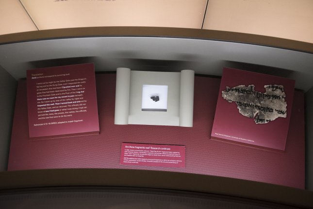 All of the Dead Sea Scrolls in the Museum of the Bible's collections have been determined to be fake. File Photo by Kevin Dietsch/UPI