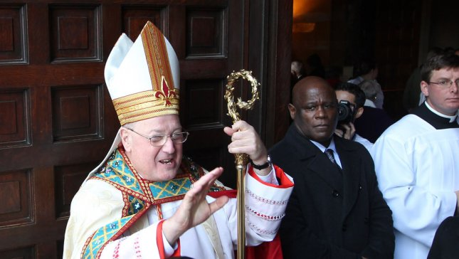 Cardinal Timothy Dolan of New York in St. Louis on January 26, 2013. UPI/Bill Greenblatt