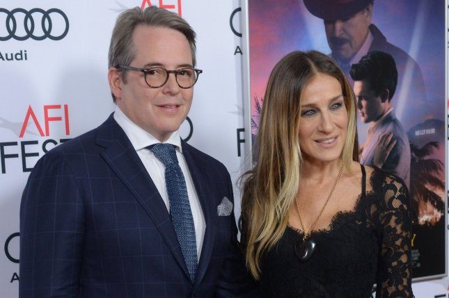 Sarah Jessica Parker (R), pictured with Matthew Broderick, slammed reports of a screaming match with the actor. File Photo by Jim Ruymen/UPI