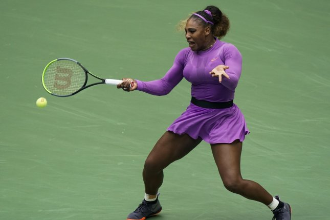 Serena Williams (pictured) hit 13 aces and lost only six points on her first serve against Kristie Ahn on Tuesday. File Photo by Ray Stubblebine/UPI