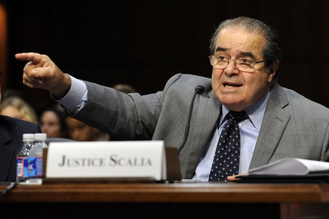 Supreme Court Justice Antonin Scalia died Saturday in West Texas. Pictured, Scalia testifies before the Senate Judiciary Committee hearing titled Considering the Role of Judges Under the Constitution of the United States on Capitol Hill in Washington, D.C., on October 5, 2011. File Photo by Roger L. Wollenberg/UPI