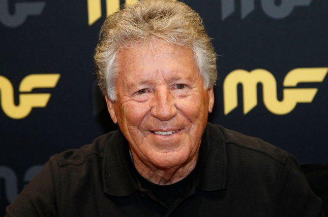 Race car legend Mario Andretti attends the 2018 SEMA Show at the Las Vegas Convention center on October 31, 2018. He turns 80 on February 28. File Photo by James Atoa/UPI
