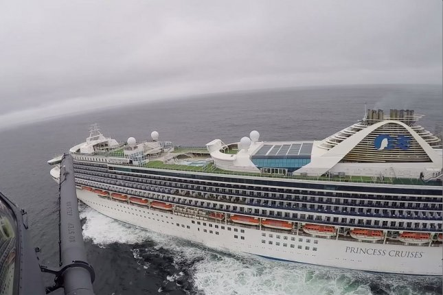 The Grand Princess cruise ship, where 21 people have tested positive will return to the United States on Monday, as a member of the White House Coronavirus Task Force suggested the United States could close off some sections of the country if the outbreak worsens. Photo by California National Guard/UPI