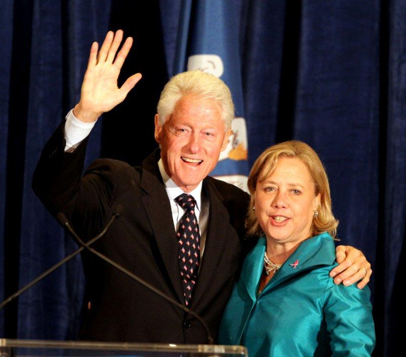 Former President Bill Clinton and U.S. Senator Mary Landrieu (D-LA) campaign at the Hilton Baton Rouge Capitol Center in Baton Rouge, Louisiana, October 20, 2014. UPI/A.J. Sisco