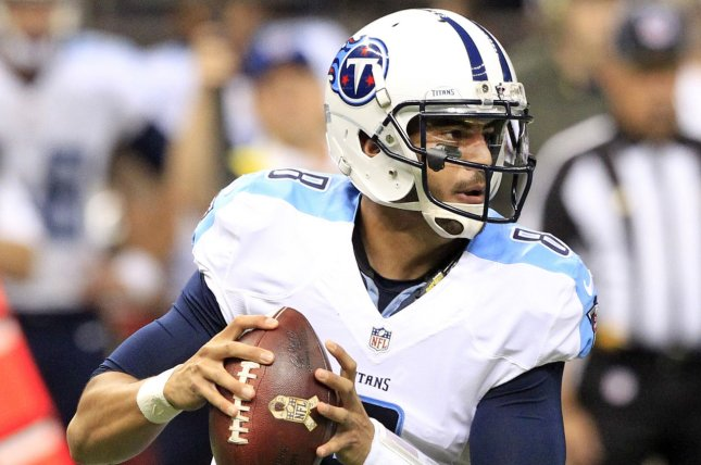 Tennessee Titans quarterback Marcus Mariota (8) went 28 for 39, for 371 yards and 4 touchdowns against the New Orleans Saints at the Mercedes-Benz Superdome in New Orleans November 8, 2015. File photo by AJ Sisco/UPI