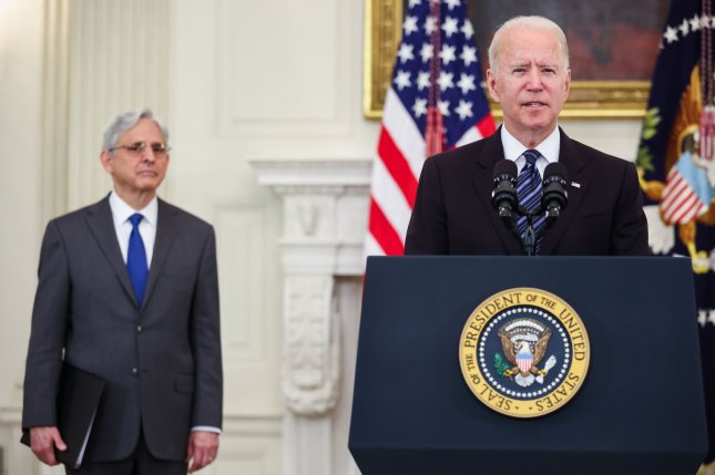 President Joe Biden on Wednesday announced a major crackdown on illegal gun sales and gun violence in the United States. Photo by Oliver Contreras/UPI