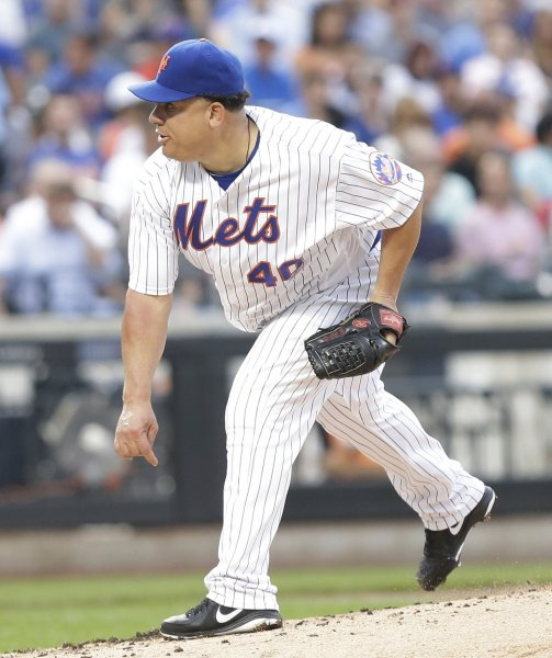 Bartolo Colon has been recalled by the Minnesota Twins, and is scheduled to debut for his 10th major-league team Tuesday. Photo by John Angelillo/UPI