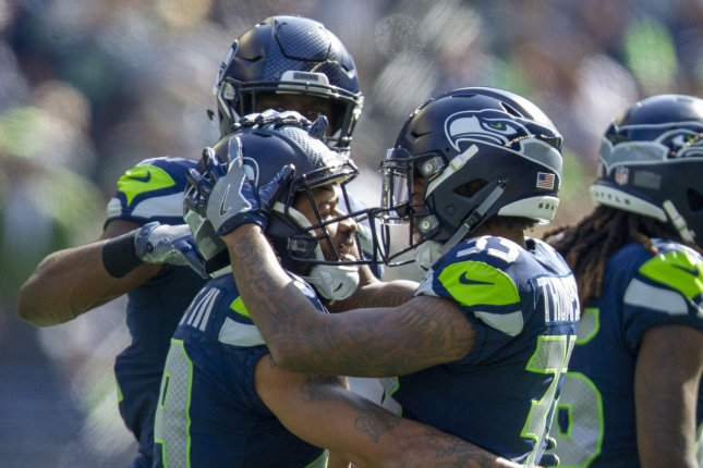 Former Seattle Seahawks defensive back Earl Thomas (L) is one of the top free agent safeties on the market this offseason. File Photo by Jim Bryant/UPI