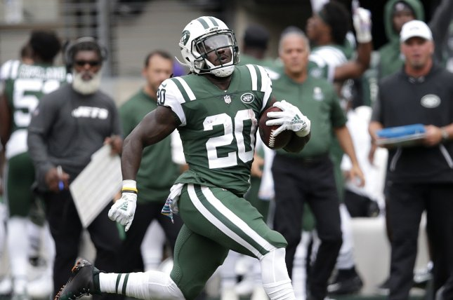 Veteran running back Isaiah Crowell has agreed on a one-year deal to join the Oakland Raiders, along with linebacker Brandon Marshall, who also inked a one-year contract. File Photo by John Angelillo/UPI