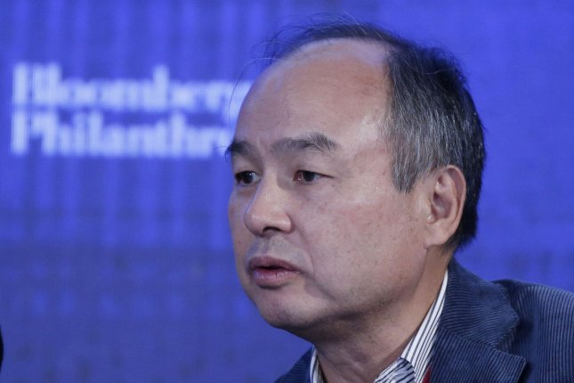 SoftBank CEO Masayoshi Son has worked to make inroads into online retail and payment services. SoftBank controls Z Holdings, which owns Yahoo Japan. Photo by John Angelillo/UPI